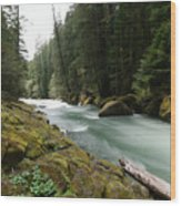 Beautiful White Water Wood Print