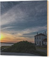 Beavertail Lighthouse Wood Print