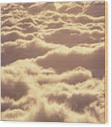 Bed Of Puffy Clouds Wood Print