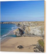 Bedruthan Steps Wood Print