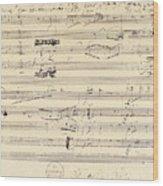 Beethoven Manuscript, 1826 Wood Print by Granger