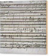 Beethoven Manuscript Wood Print by Granger