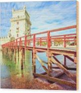 Belem Tower Lisbon Wood Print