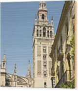 Bell Tower - Cathedral Of Seville - Seville Spain Wood Print