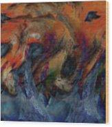 Beneath The Waves Wood Print by Linda Sannuti