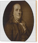 Benjamin Franklin Wood Print by War Is Hell Store