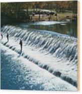Bennett Springs Spillway Wood Print