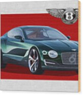 Bentley E X P  10 Speed 6 With  3 D  Badge  Wood Print