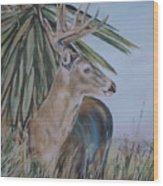 Berry Buck Wood Print