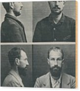 Bertillon System Photographs Taken Wood Print