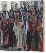 Bethlehemites In Traditional Dress Wood Print