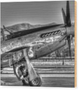 Betty Jane P51d Mustang At Livermomre Wood Print