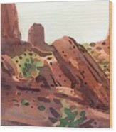 Between The Buttes Wood Print