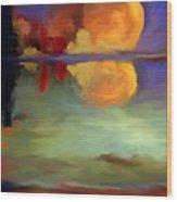 Beyond Sunset Pond Wood Print