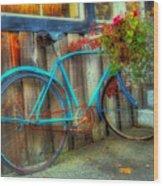 Bicycle Art 1 Wood Print