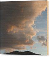 Big Cloud Wood Print