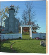 Big Sodus Lighthouse Wood Print
