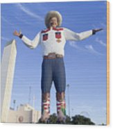 Big Tex In Dallas Texas Wood Print