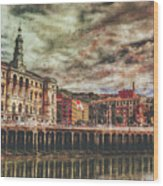 Bilbao Wood Print