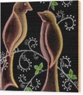 Bird Doodle Wood Print
