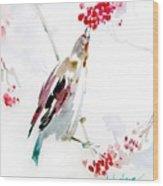Bird Painting Wood Print