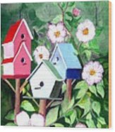 Birdhouse Wood Print