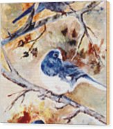 Birds Of Different Feathers Wood Print