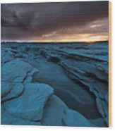 Bisti Fissure New Mexico Wood Print