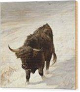 Black Beast Wanderer Wood Print by Joseph Denovan Adam
