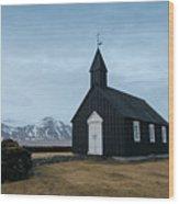 Black Church Of Budir, Iceland Wood Print