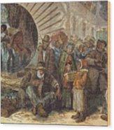 Black Exodus, 1880 Wood Print