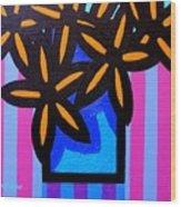 Black Eyed Flowers  Wood Print