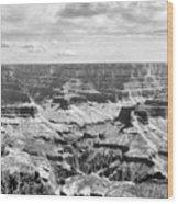 Black Grand Canyon  Wood Print