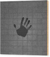 Black Hand Wood Print