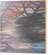 Black Dream Wood Print