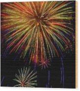 Blooming Fireworks Wood Print