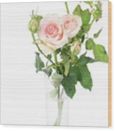 Rose Twigs Wood Print