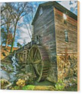 Blowing Cave Mill Near Smoky Mountains Of East Tennessee Wood Print