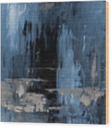 Blue Abstract 12m2 Wood Print