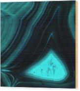Blue Agate Wood Print
