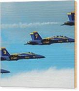 Blue Angels Formation  Wood Print