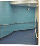 Blue Corridor Wood Print