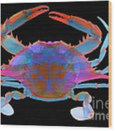 Blue Crab, X-ray Wood Print