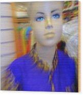Blue Eyed Boy Wood Print