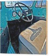 Blue Ford Pickup Truck Wood Print