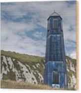 Blue Lighthouse Wood Print