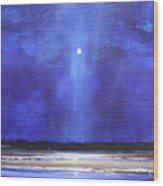 Blue Night Magic Wood Print