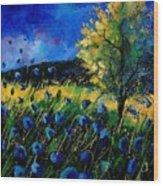 Blue poppies  Wood Print