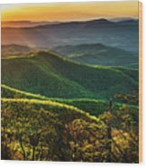 Blue Ridge Sunset Wood Print