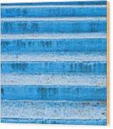 Blue Steps Wood Print